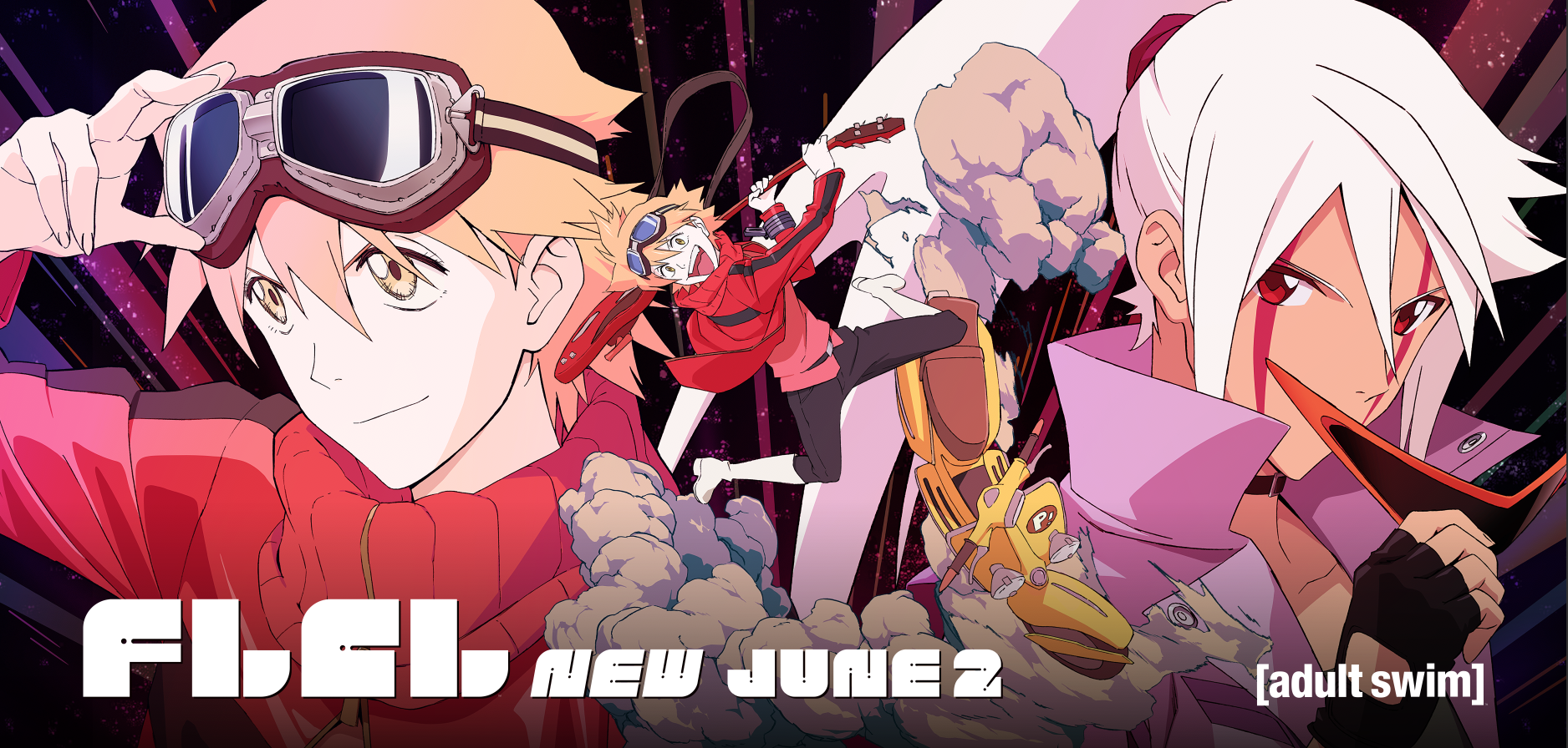 Press Release: New Seasons of Anime Hit Series FLCL Crash Land This Summer on Toonami