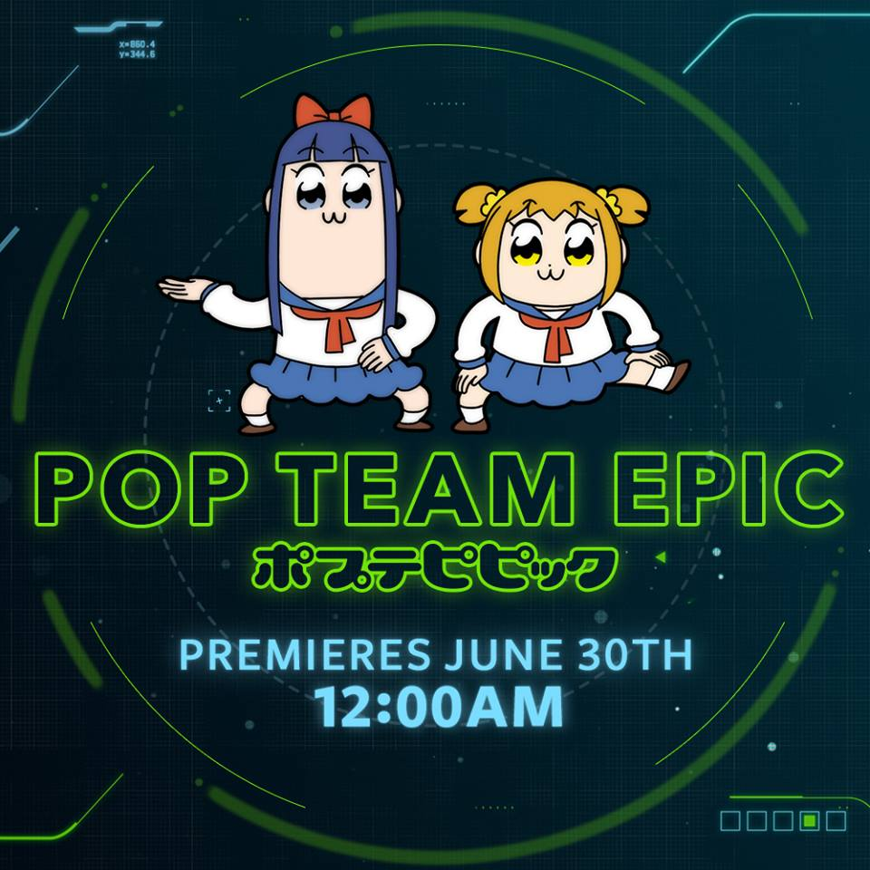 Toonami Announces FUNimation's Pop Team Epic will be joining and replacing DBZ Kai on the block June 30th at Midnight