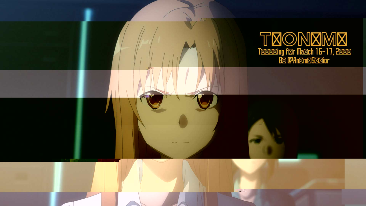 Toonami Trending Rundown for March 16th-17th, 2019, By @AnimeSavior