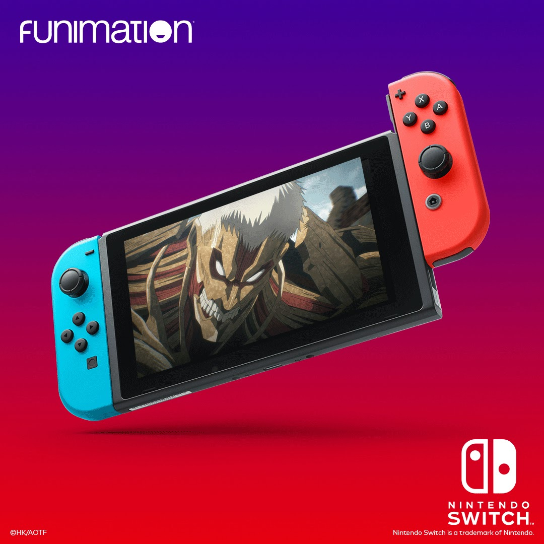 GAME ON FOR ANIME FANS! FUNIMATION TO LAUNCH AS ONLY ANIME APP ON NINTENDO SWITCH