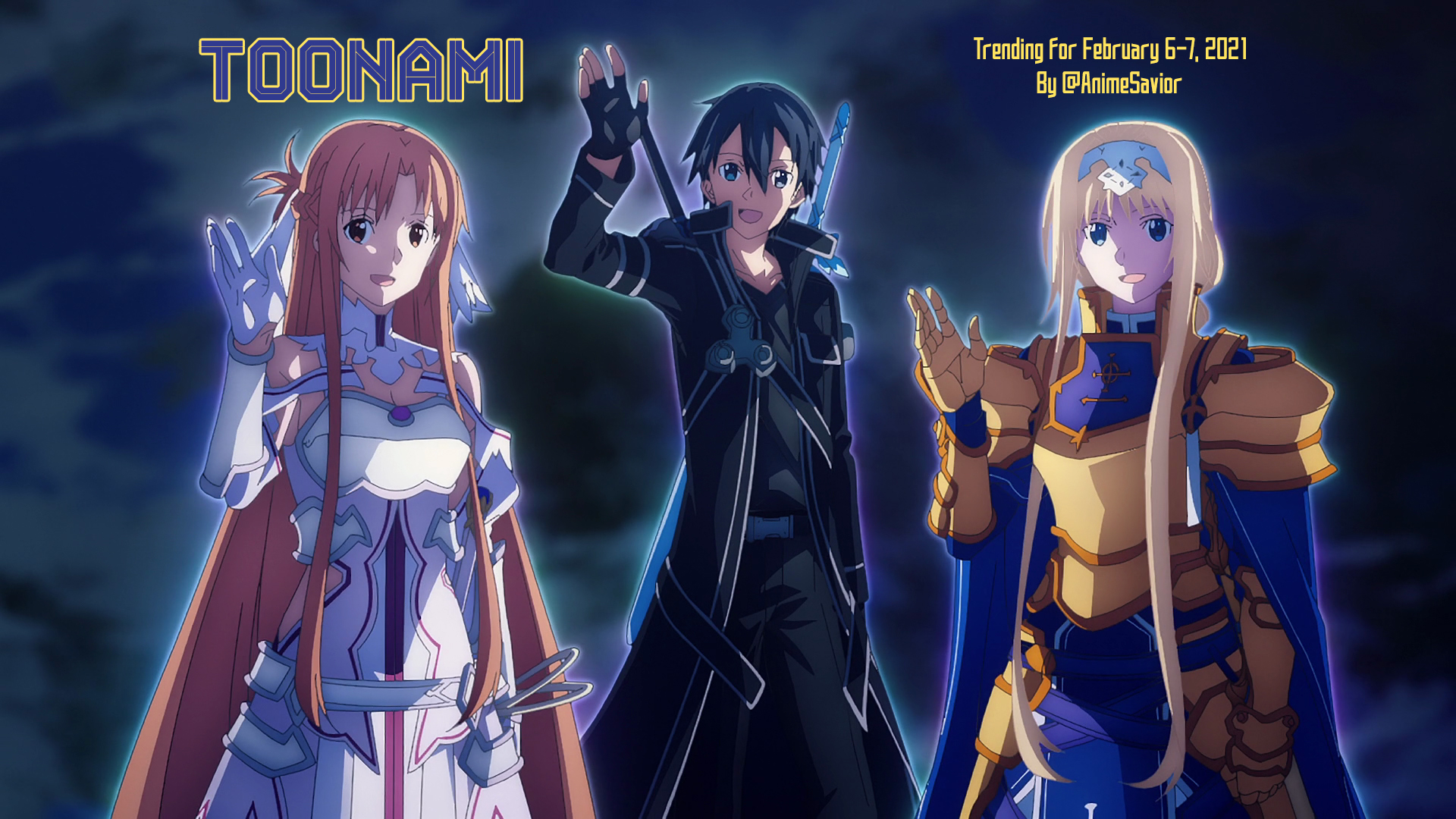 Toonami Trending Rundown for February 6-7, 2021