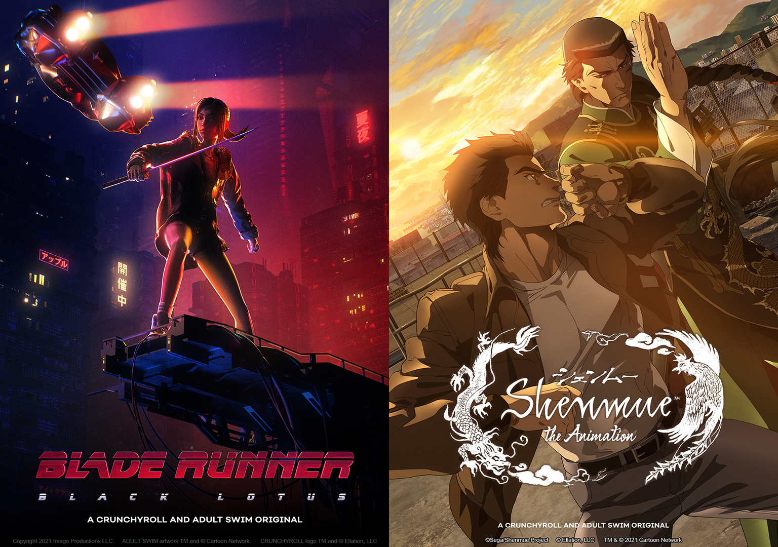 Toonami News from NYCC: Blade Runner: Black Lotus Premieres this November 13, Shenmue in 2022